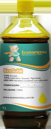 1 Litro Tinta Sublimática Epson Amarela (yellow)  - ECONOMIZOU