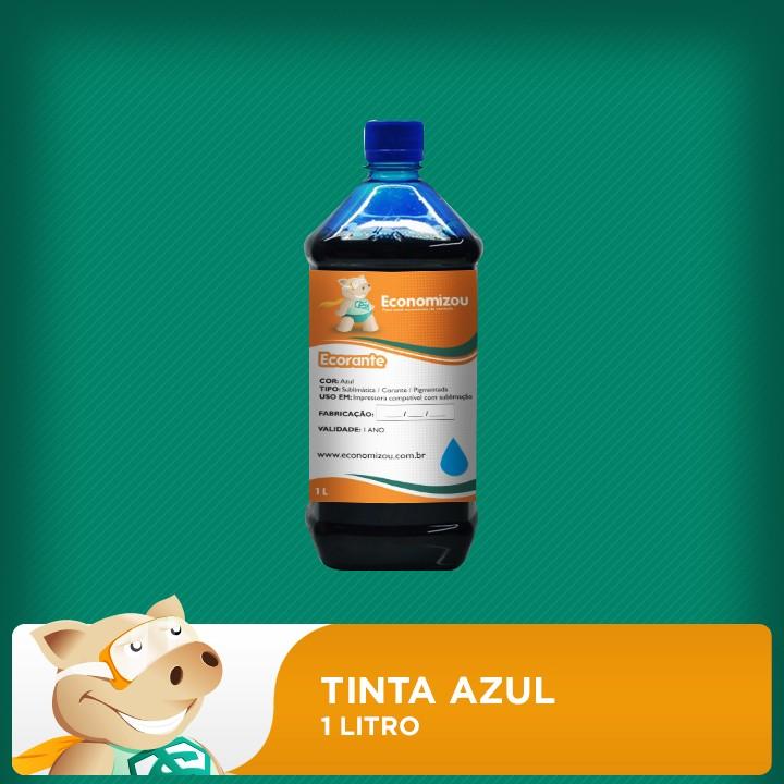 1 Litro Tinta Corante Epson Azul (Cyan)  - ECONOMIZOU