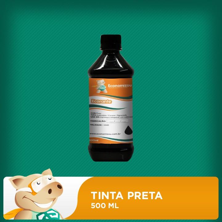 500ml Tinta Corante Epson Preto (Black)  - ECONOMIZOU
