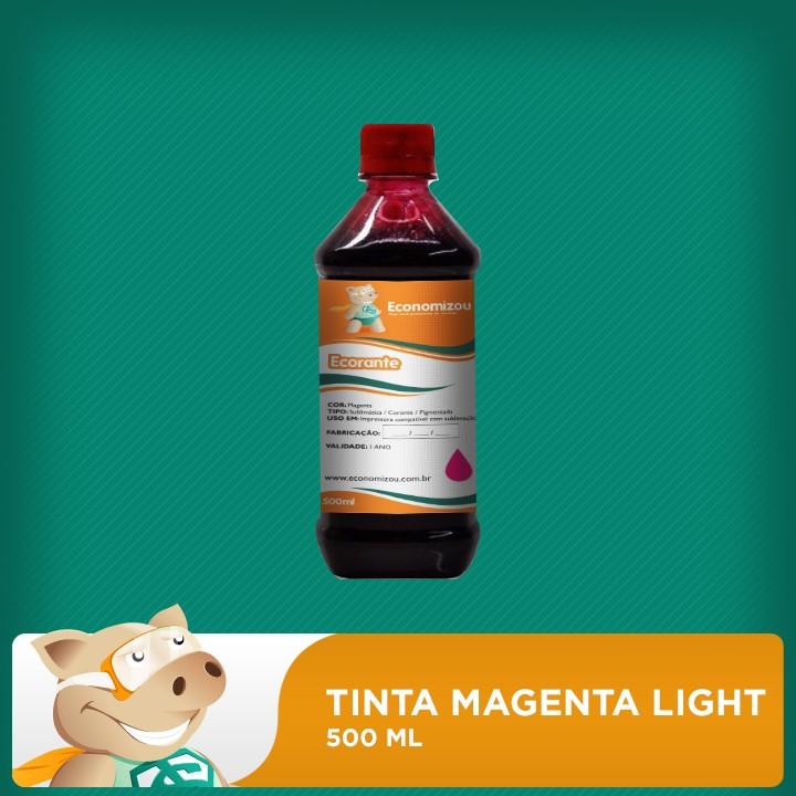 500ml Tinta Corante Epson Vermelha Light (Magenta Light)  - ECONOMIZOU