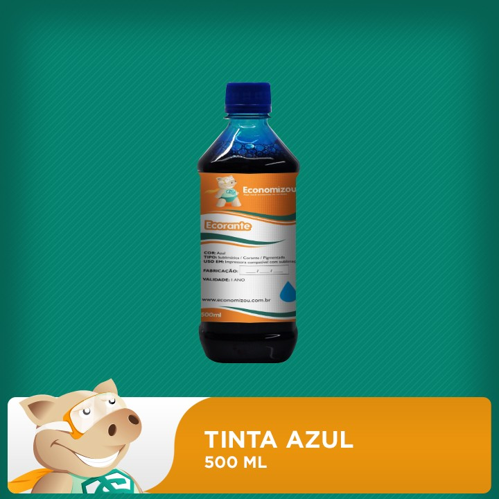 500ml Tinta Corante Epson Azul (Cyan)  - ECONOMIZOU