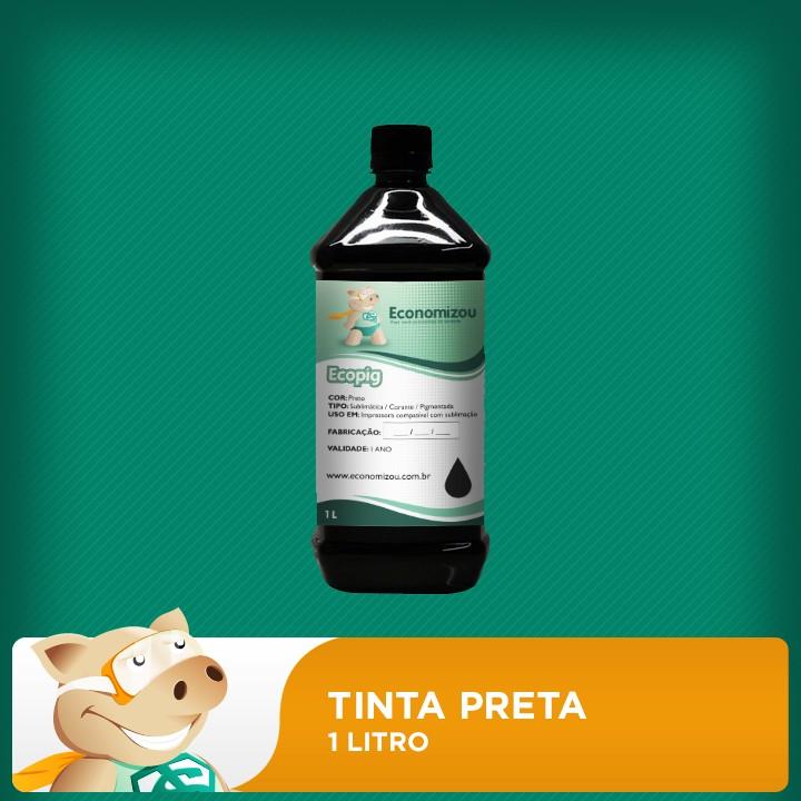 1 Litro Tinta Pigmentada Epson Preta (Black)  - ECONOMIZOU