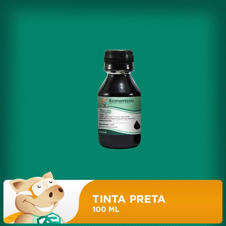 100ml Tinta Pigmentada Epson Preta (Black)  - ECONOMIZOU