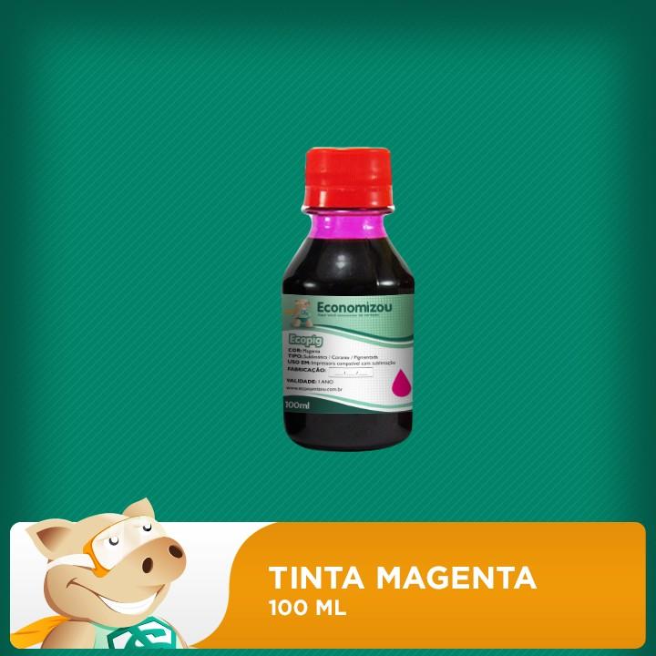 100ml Tinta Pigmentada Epson Vermelha (Magenta)  - ECONOMIZOU