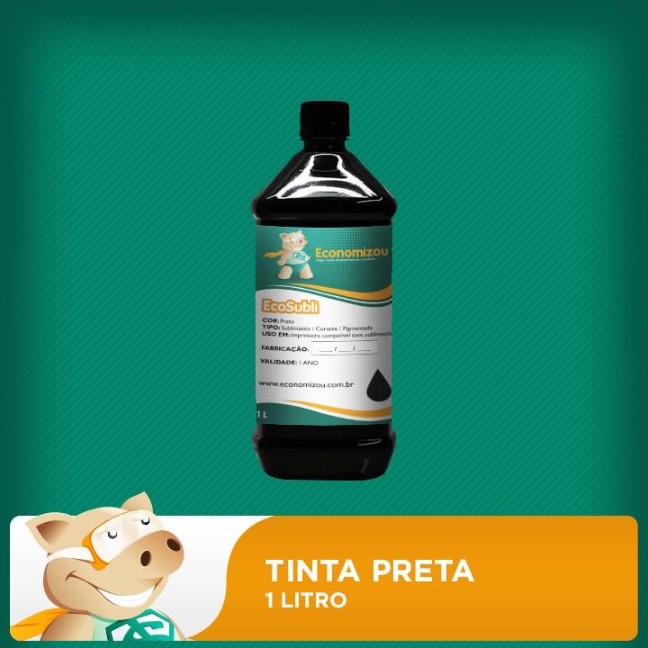 1 Litro Tinta Sublimática Epson Preta (Black)  - ECONOMIZOU
