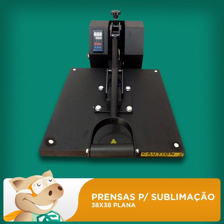 Prensa Térmica Plana 38x38 Para Sublimação/Transfer  - ECONOMIZOU