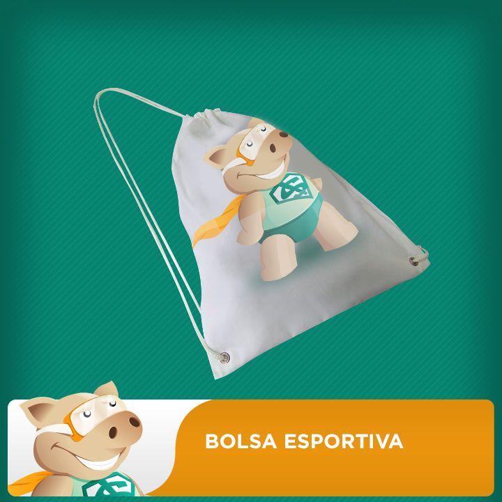 Bolsa Esportiva  100% Poliéster - Unidade   - ECONOMIZOU