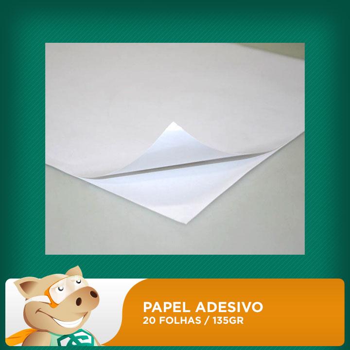 Papel Fotográfico 20 folhas 135gr A4 Adesivo (Resistente à água)  - ECONOMIZOU