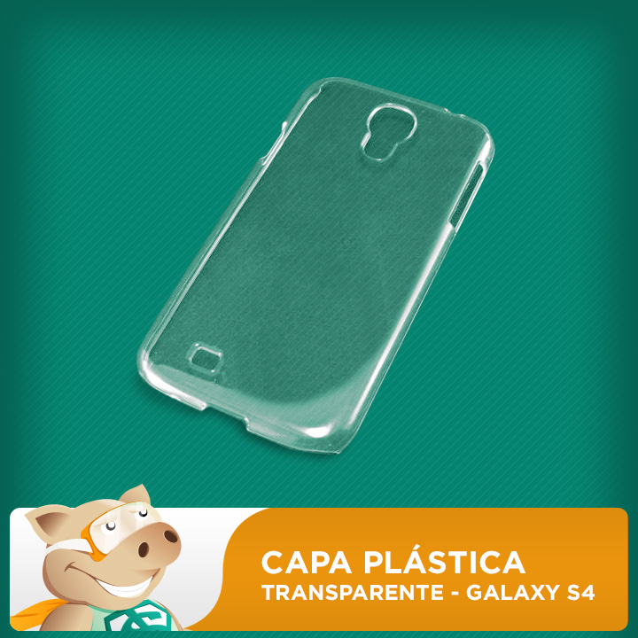 Capa de Celular Galaxy S4 Plástica Transparente  - ECONOMIZOU