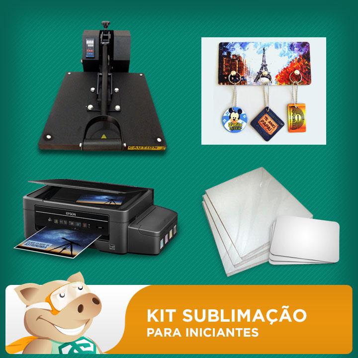 Kit Sublimação A4 (prensa 38x38 + impressora A4 + suprimentos + perfil de cores GRATIS!)   - ECONOMIZOU
