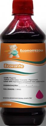 500ml Tinta Corante HP, LEX e CANON Vermelha (Magenta)  - ECONOMIZOU