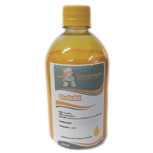 500ml Tinta Sublimática Epson Amarela (Yellow)  - ECONOMIZOU