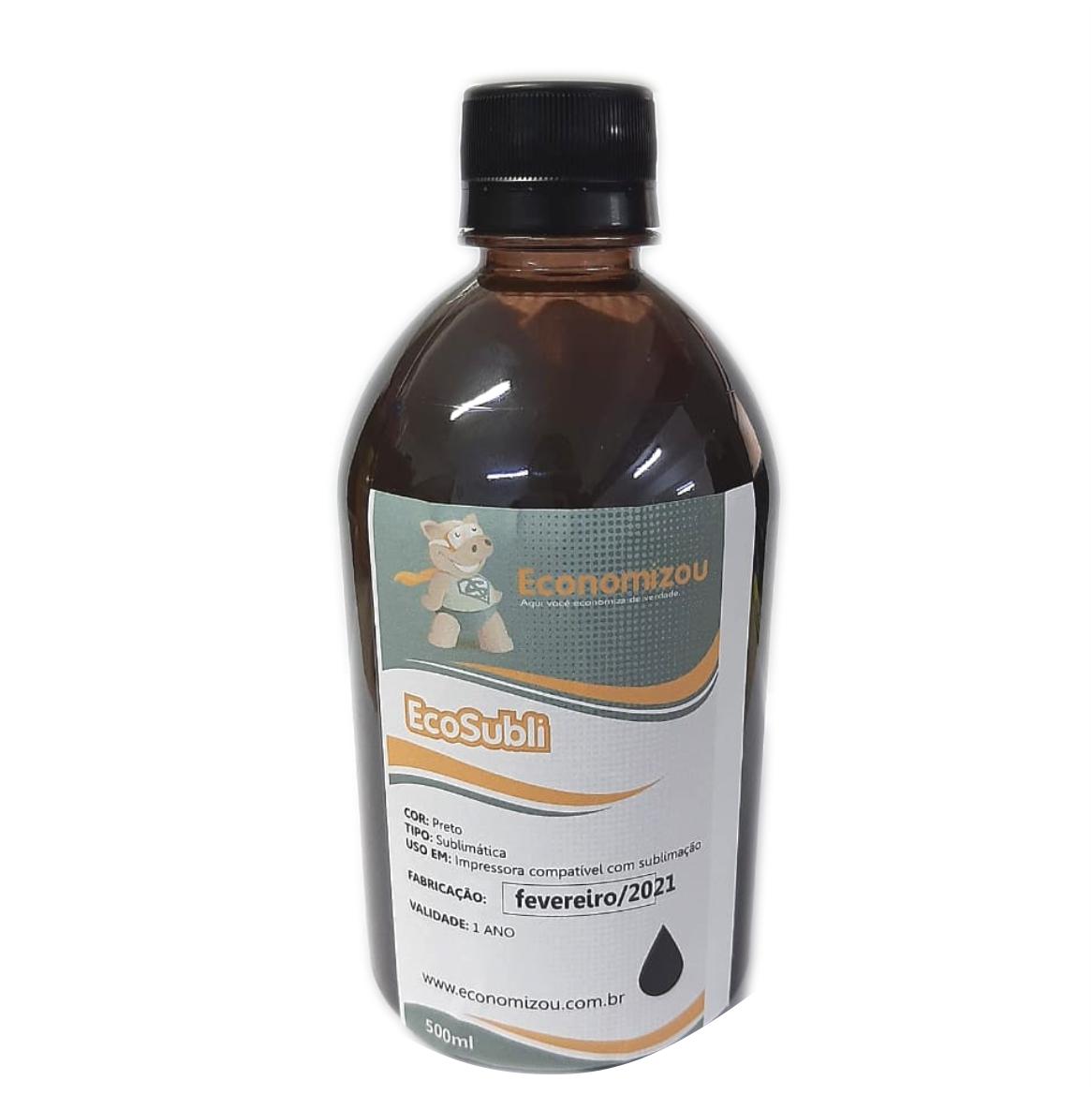 500ml Tinta Sublimática Epson Preta (Black)  - ECONOMIZOU
