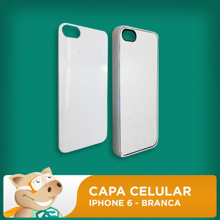Capa Celular 2D para Sublimação - Branco - Iphone6  - ECONOMIZOU