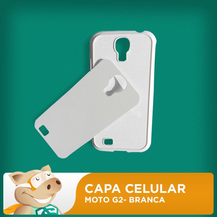 Capa Plástica 2D para Sublimação - Branca - Moto G2  - ECONOMIZOU