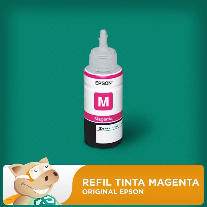 Refil Tinta Corante Epson Original Vermelha (Magenta) (COD 664) L120/L200/L210/L355/L365/L375/L395  - ECONOMIZOU