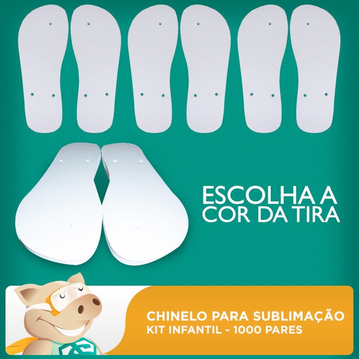 Kit Chinelo Infantil 1000 pares  - ECONOMIZOU