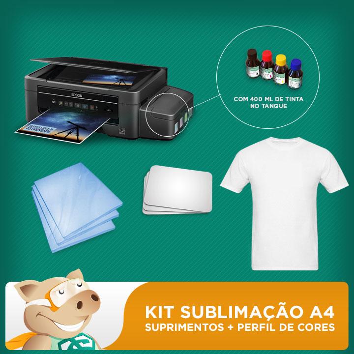 Kit sublimação A4 impressão (impressora A4 + suprimentos + perfil de cores GRATIS!)   - ECONOMIZOU