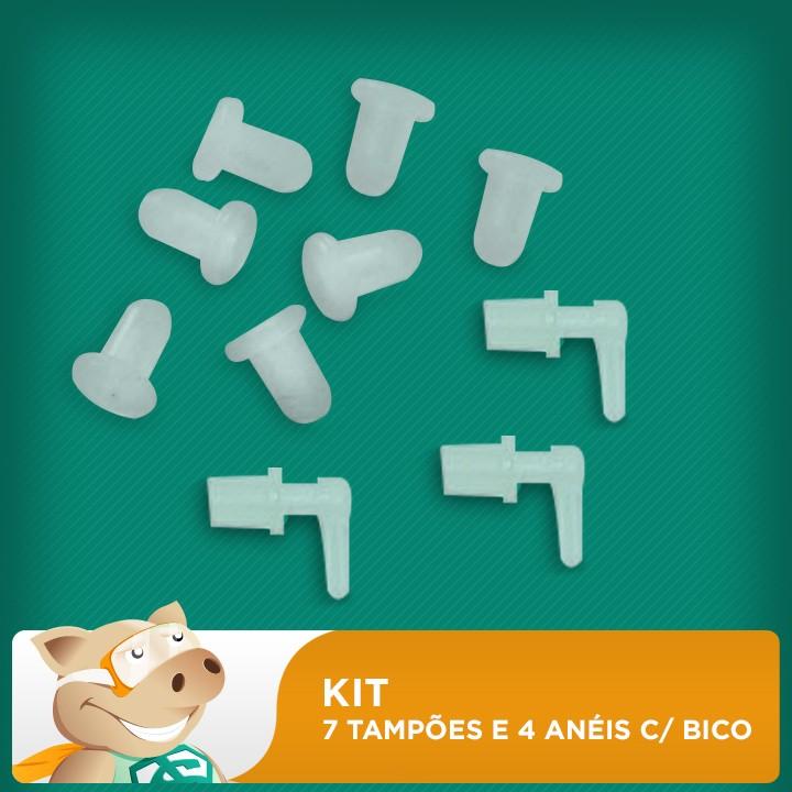 Kit 7 Tampões + 4 Anéis com Bicos  - ECONOMIZOU