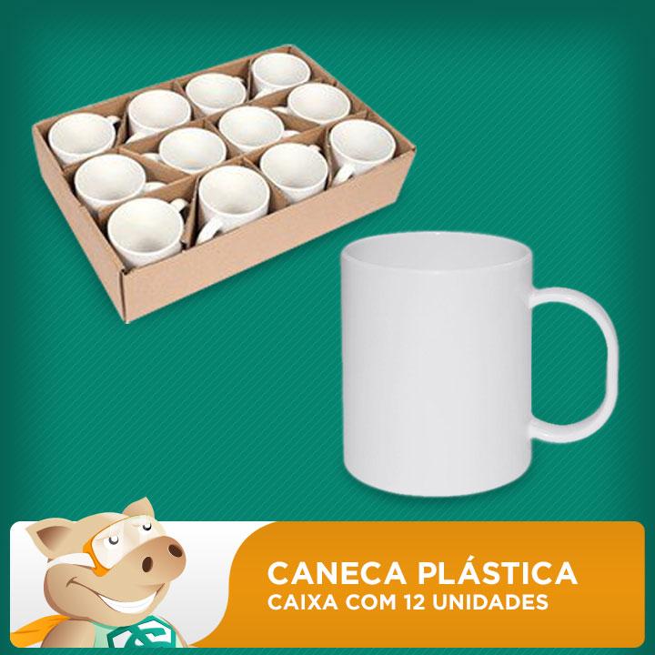 Caixa de Canecas Plásticas Para Sublimação com 12 Unidades  - ECONOMIZOU