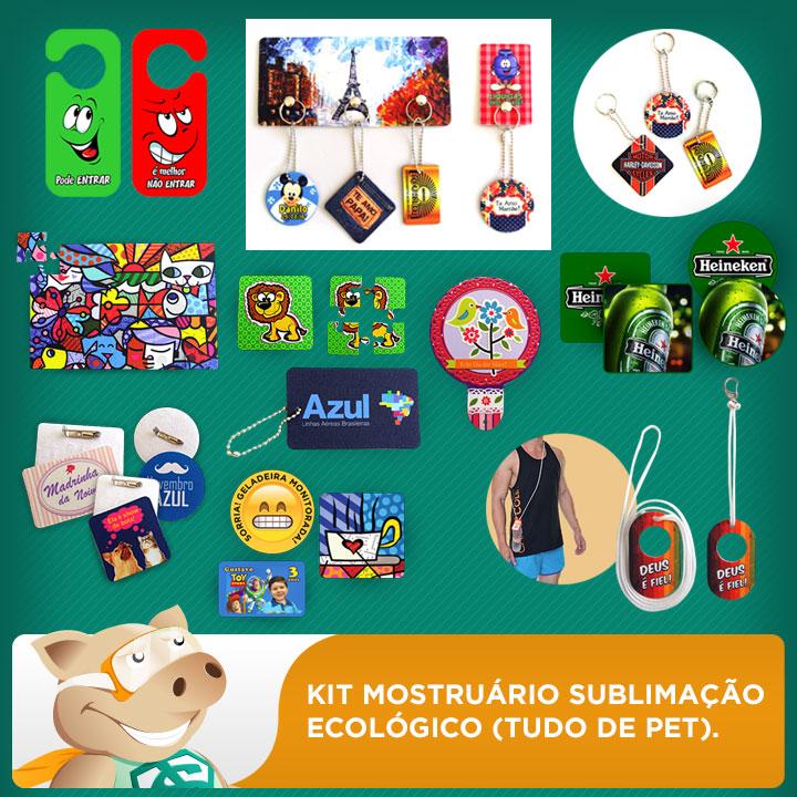 Kit Mostruário Foto produtos Sublimação 100% PET  - ECONOMIZOU