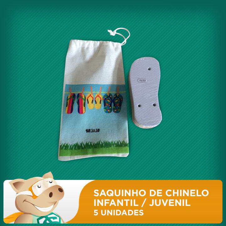 Saquinho de Chinelo Infantil / Juvenil - Pacote com 5 Unidades  - ECONOMIZOU