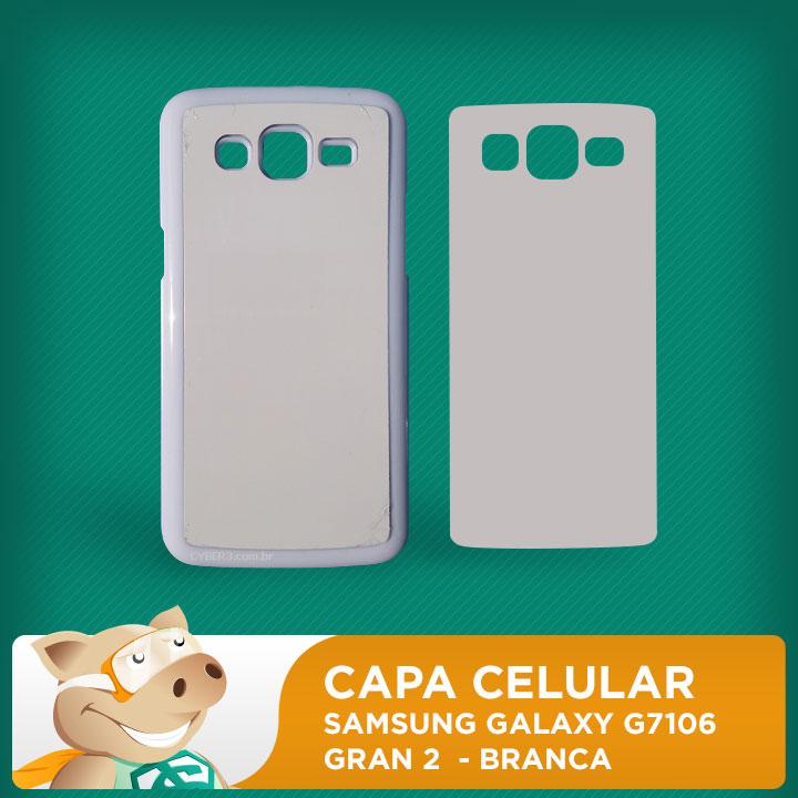 Capa Plástica 2D para Sublimação - Branca - Samsung Galaxy G7106 / Gran 2  - ECONOMIZOU