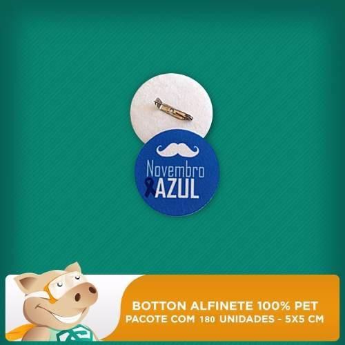 Botton C/ Alfinete 100% Pet Redondo P/ Sublimação Pct C/ 180  - ECONOMIZOU