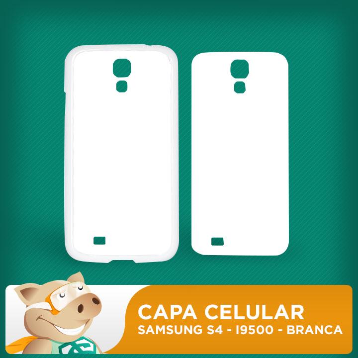 Capa Plástica 2D para Sublimação - Branca -Samsung S4 - I9500  - ECONOMIZOU