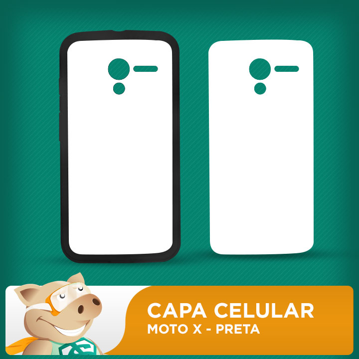 Capa Plástica 2D para Sublimação - Preta - Moto X 1 xt1058  - ECONOMIZOU