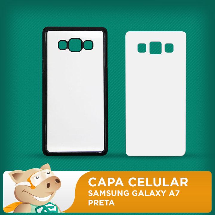 Capa Plástica 2D para Sublimação - Preta - Galaxy A7  - ECONOMIZOU