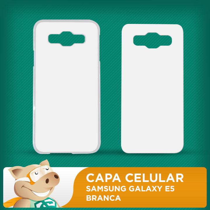 Capa Plástica 2D para Sublimação - Branca - Galaxy E5  - ECONOMIZOU