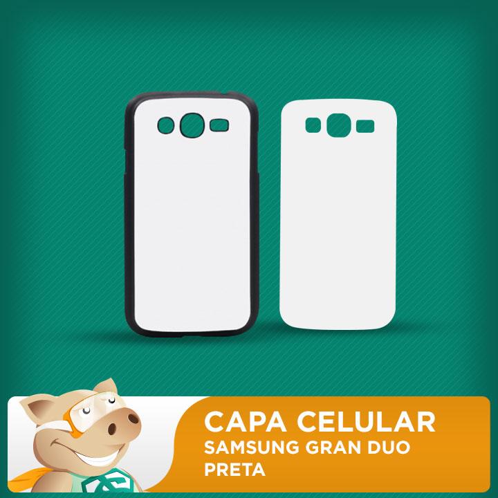 Capa Plástica 2D para Sublimação - Preta - Samsung Grand Duos  - ECONOMIZOU