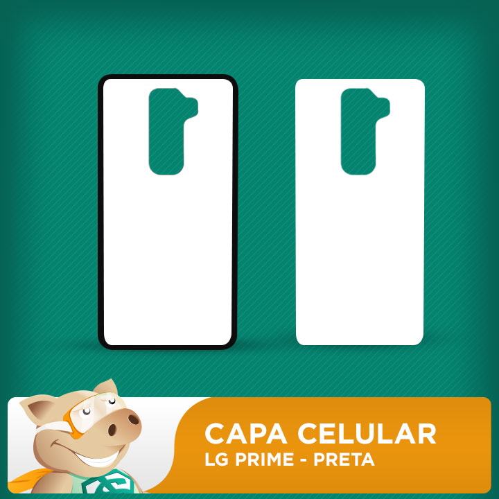 Capa Plástica 2D para Sublimação - Preta - LG Prime  - ECONOMIZOU