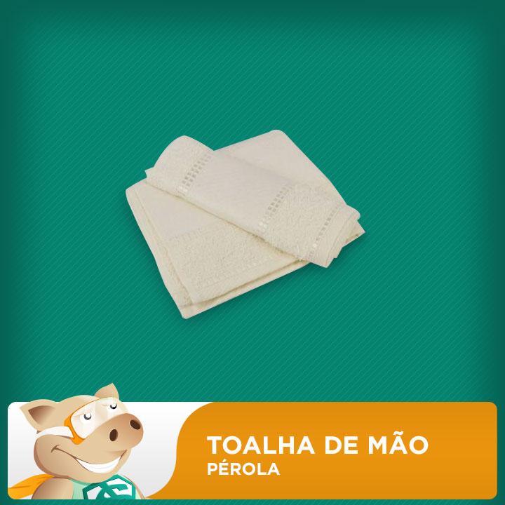 Toalha de Mão Pérola  - ECONOMIZOU