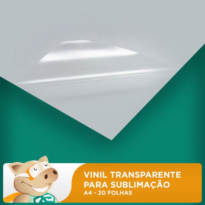 Vinil Transparente Para Sublimação - A4 - Pacote com 20 folhas  - ECONOMIZOU