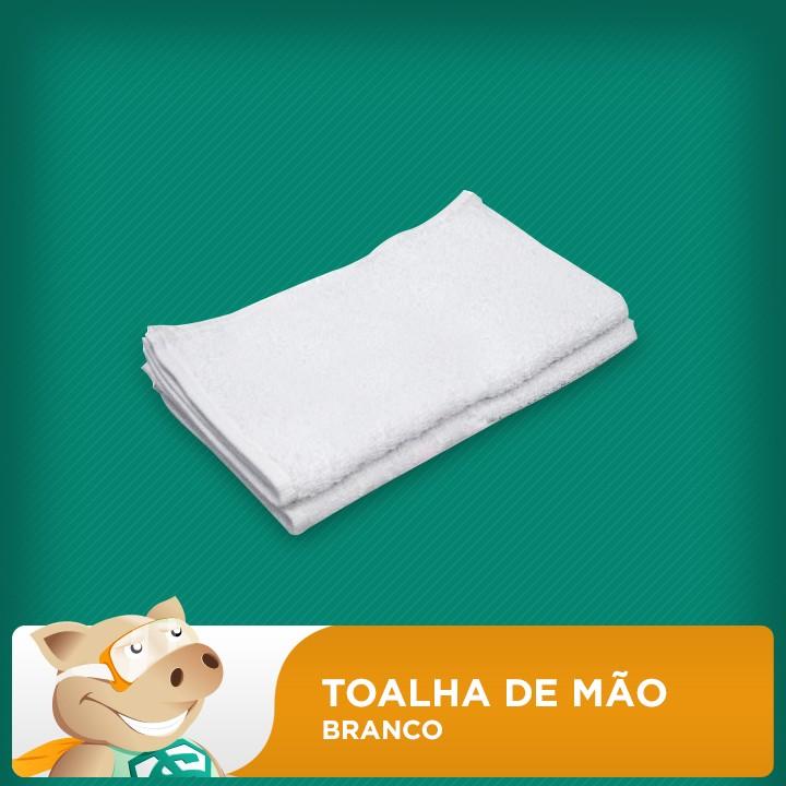 Toalha de Mão Branca  - ECONOMIZOU