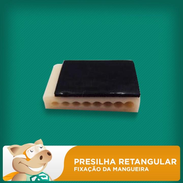 Presilha Retangular p/ Fixação de Mangueira  - ECONOMIZOU