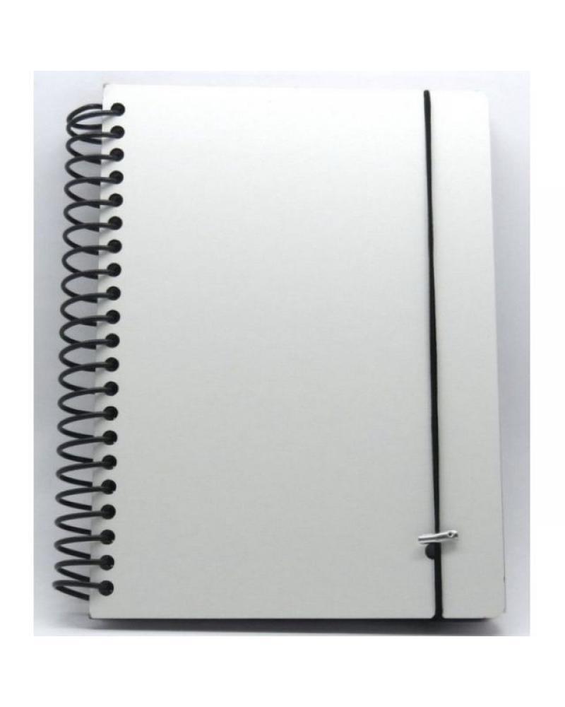 Agenda Pautada capa MDF - 14x19cm - 75 folhas  - ECONOMIZOU