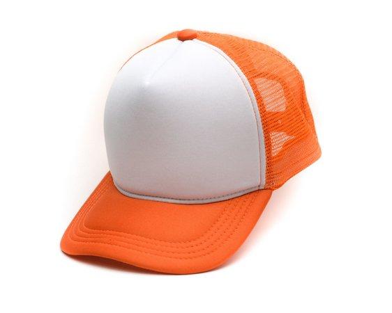 Boné Trucker laranja para Sublimação (Unidade)   - ECONOMIZOU