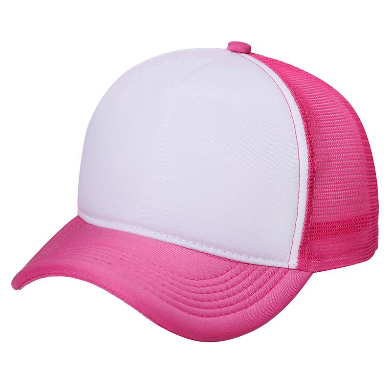 Boné Trucker rosa para Sublimação (Unidade)   - ECONOMIZOU