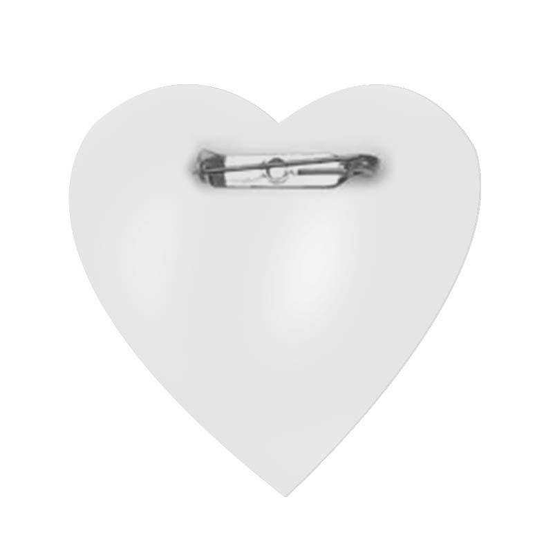 Botton Alfinete 100% PET - Coração - Cartela com 16 unidades  - ECONOMIZOU