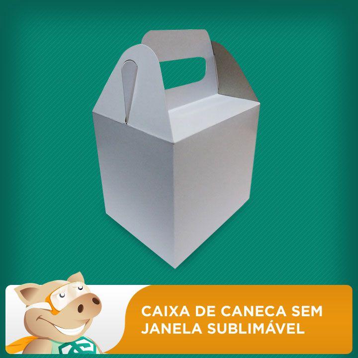Caixa de Caneca Sem Janela Sublimável - pacote com 10 unidades  - ECONOMIZOU