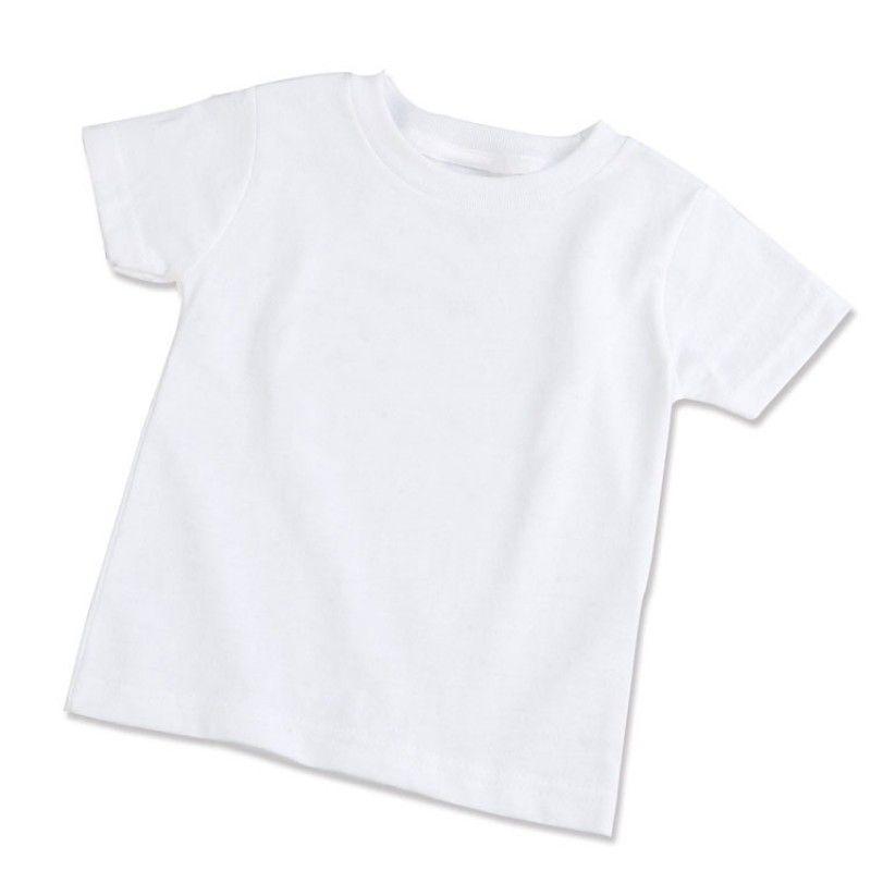 Camisa Branca 100% Poliéster 30.1 - Infantil tamanho 6  - ECONOMIZOU