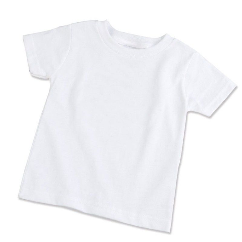 Camisa Branca 100% Poliéster 30.1 - Infantil tamanho 4  - ECONOMIZOU