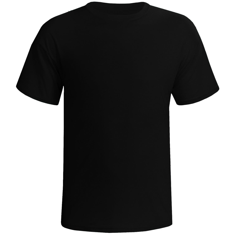 Camisa preta 100% poliester para sublimação M  - ECONOMIZOU