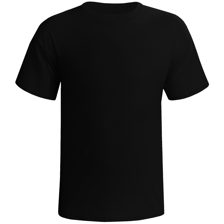 Camisa preta 100% poliester para sublimação P  - ECONOMIZOU