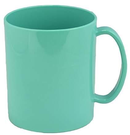 Caneca de polímero Verde Água - 350ml  - ECONOMIZOU