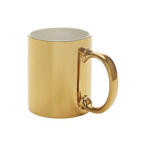 Caneca Metalizada Dourada para Sublimação 300ml (Unidade)  - ECONOMIZOU