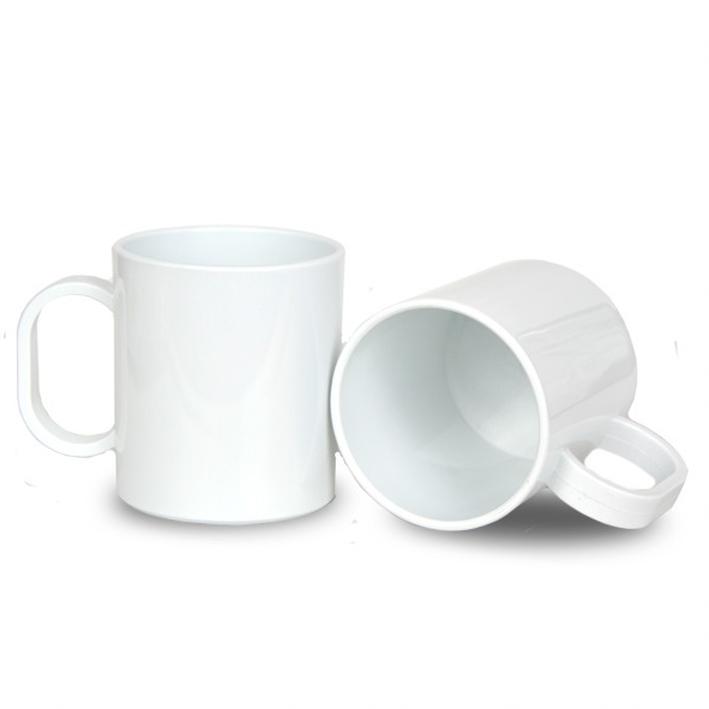 Caneca de polímero branca Para Sublimação (Unidade)  - ECONOMIZOU
